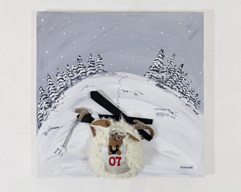 Mouton skieur