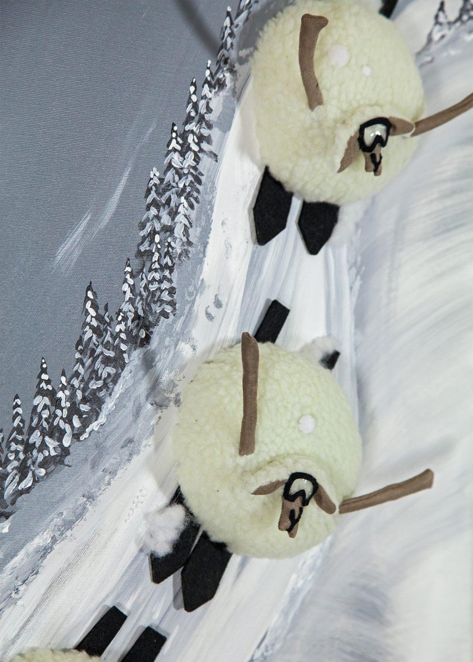 Descente des skieurs